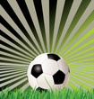 Soccer ball (football) on retro background