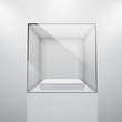 3d Empty glass showcase