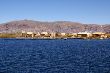 Uros - Floating island on titcaca lake in Peru