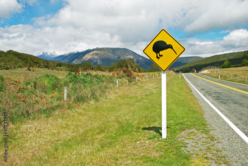 Kiwi sign by the road