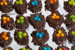 Tray of candy bird nests