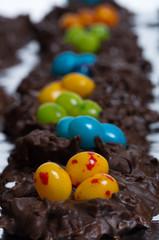 Candy bird nests shallow focus