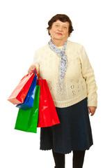 Senior woman at shopping