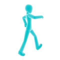 walk B right blue