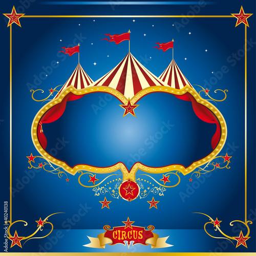 Circus blue leaflet