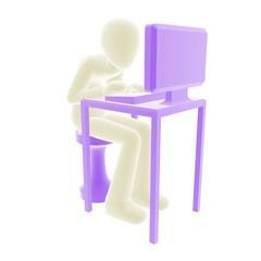 white person desk work