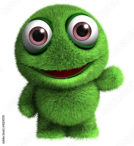 Keuken foto achterwand Sweet Monsters cute alien