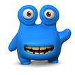 cute blue bug