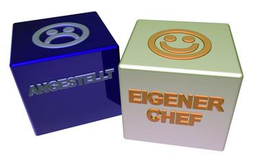 3D Doppelwürfel II - ANGESTELLT - EIGENER CHEF