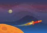 Fototapety Spaceship Travel In Space