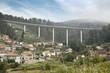 Bridge over Domayo town, Pontevedra, Galicia, Spain