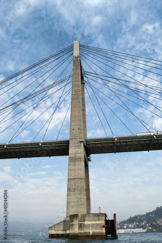 Rande Bridge over Vigo Ria, Pontevedra, Galicia, Spain