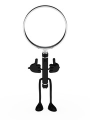 magnifying lens figure
