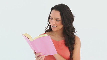 Woman reads a book