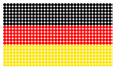 Germany flag in halftone