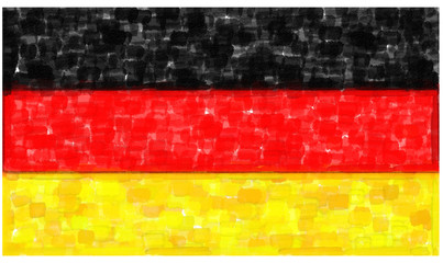 Germany flag in water color