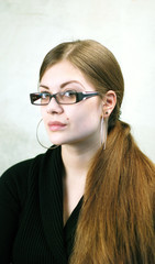 Woman with Glasses and long Hairs
