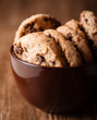 Chocolate chip cookies in a coffee cup