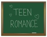 Teen romance concept. poster
