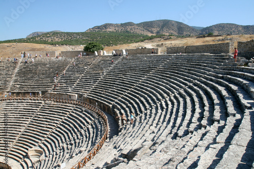 Amphitheatre of ancient Hierapolis Turkey