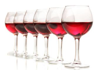 Wineglasses isolated on white