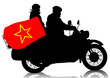 Retro military motorcycle