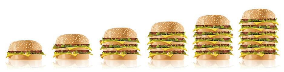 Schnellimbiss - Fastfood - XXL Hamburger Burger 2