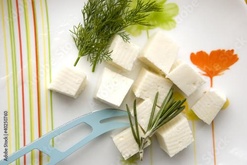 Leinwanddruck Bild сыр на тарелке