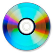 DVD or CD on white with shadow