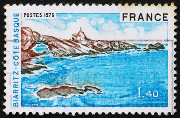 Postage stamp France 1976 Biarritz, Bay of Biscay, France