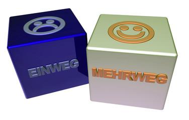 3D Doppelwürfel II - EINWEG - MEHRWEG