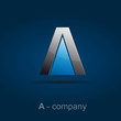 Logo letter A, joint # Vector