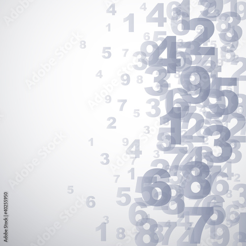 Abstract numbers background  # Vector