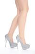 Frauen Beine mit trendigen Schuhen