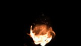 Flame increasing in super slow motion