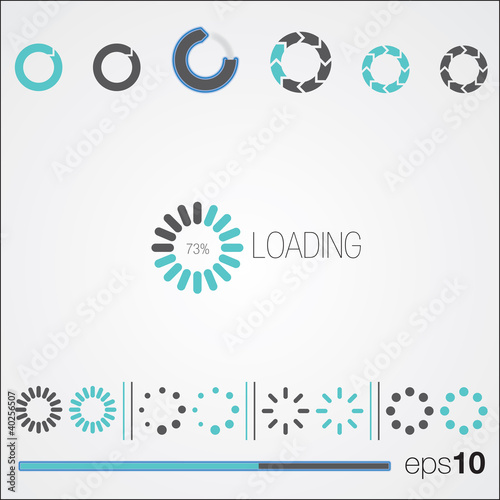 loading white background