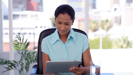 Businesswoman using a tablet computer