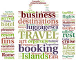 travel - tagcloud luggage shaped