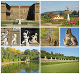 poster with images of florentine historic Boboli Gardens poster