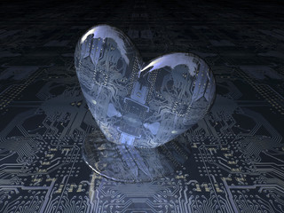 corazón de ordenador