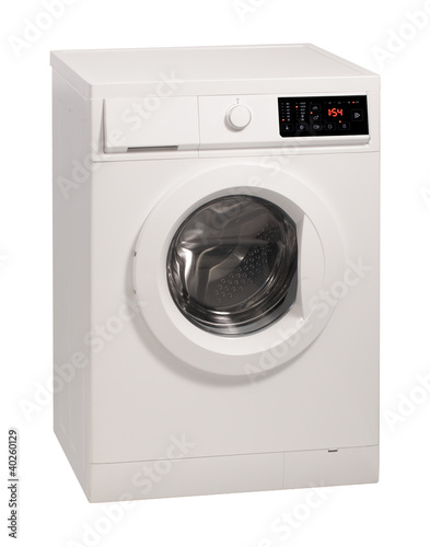 Washing machine isolated over white background.