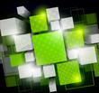 Background with green cubes