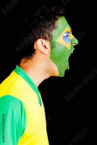 Brazilian man shouting