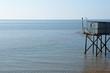 Cabane de pêche, carrelet, océan, mer, atlantique