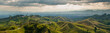 Leinwanddruck Bild - Panorama in the coffee triangle region of Colombia