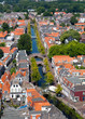 Delft Canal and Bridges from above