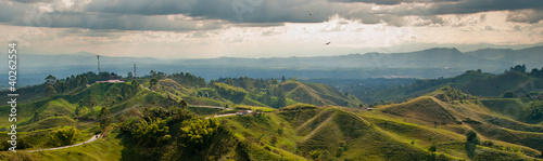 Foto op Canvas Heuvel Panorama in the coffee triangle region of Colombia