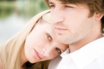 Young couple, close-up