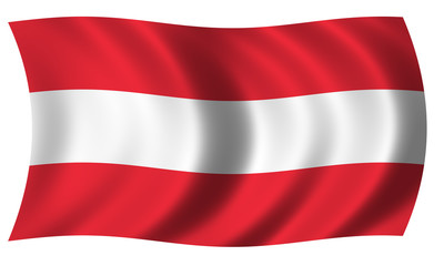 Flag of Austria in wave