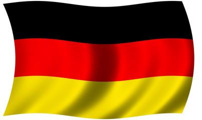 German flag waving